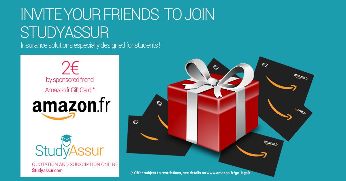 Sponsorship - Invite your friends - StudyAssur